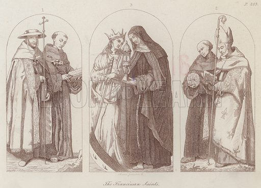 The Franciscan Saints. Illustration for Legends of the Monastic Orders as represented in the Fine Arts by Mrs Jameson (6th edn, Longmans, 1880).