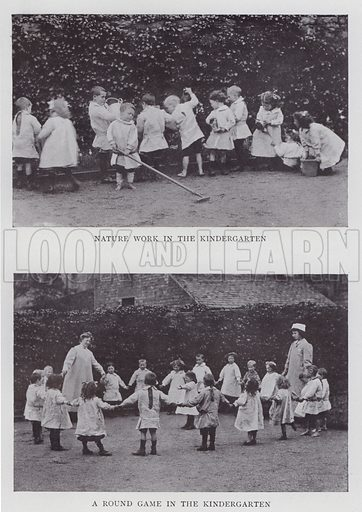 Nature Work in the Kindergarten, A Round Game in the Kindergarten. Illustration for The Teacher's Encyclopaedia edited by AP Laurie (Caxton, 1911).