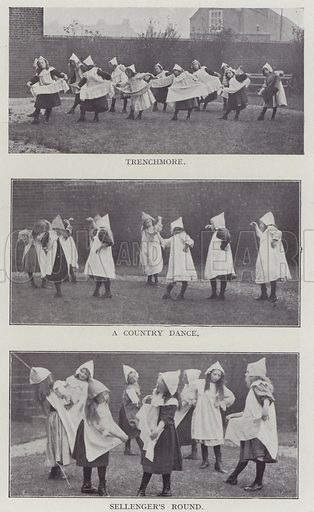 Trenchmore, A Country Dance, Sellenger's Round. Illustration for The Teacher's Encyclopaedia edited by AP Laurie (Caxton, 1911).
