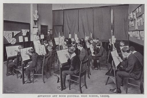 Advanced Art Room, Central High School, Leeds