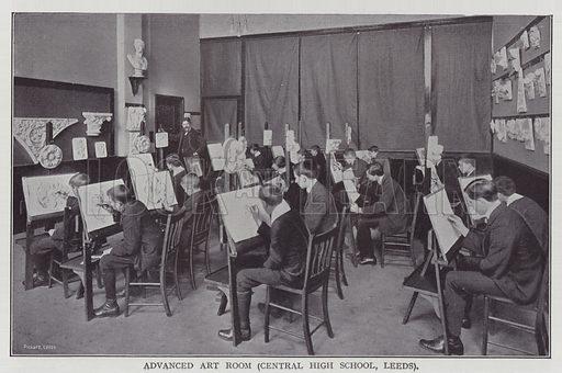 Advanced Art Room, Central High School, Leeds. Illustration for The Teacher's Encyclopaedia edited by AP Laurie (Caxton, 1911).