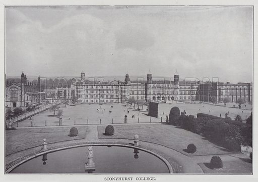 Stonyhurst College. Illustration for The Teacher's Encyclopaedia edited by AP Laurie (Caxton, 1911).