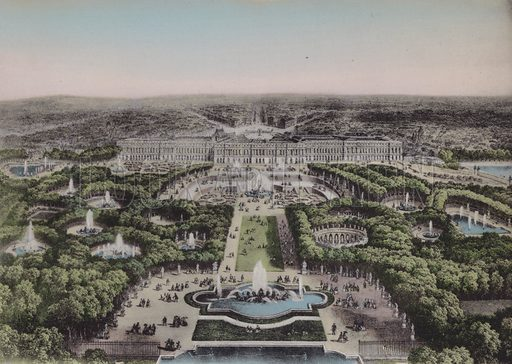 Panorama. Illustration for booklet on Versailles et les Trianons, c 1900.