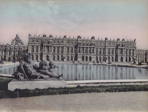 Le Chateau, Vue sur le Parc, The Castle, View on the Park. Illustration for booklet on Versailles et les Trianons, c 1900.