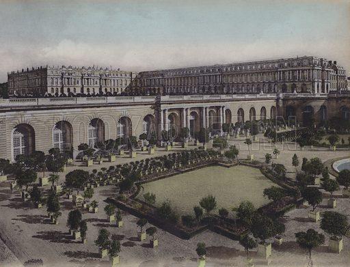 L'Orangerie, The Orangery. Illustration for booklet on Versailles et les Trianons, c 1900.
