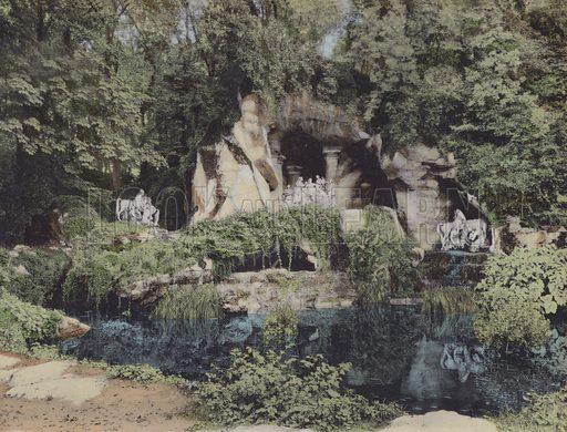 Les Bains d'Apollon, The Bathing of Apollo. Illustration for booklet on Versailles et les Trianons, c 1900.