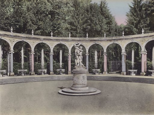 Colonnade. Illustration for booklet on Versailles et les Trianons, c 1900.