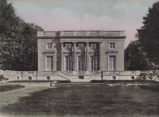 Le Petit Trianon, The Little Trianon. Illustration for booklet on Versailles et les Trianons, c 1900.
