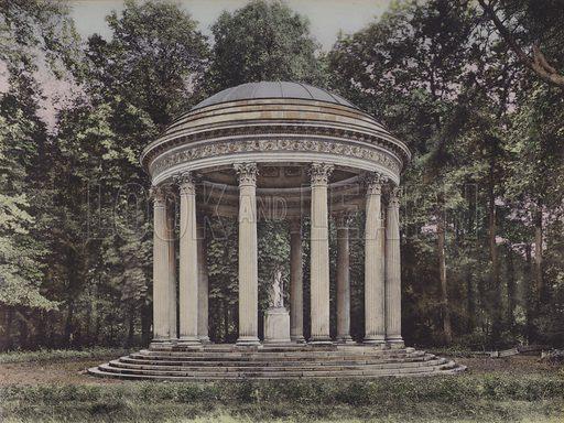 Temple de l'Amour, The Temple of Love. Illustration for booklet on Versailles et les Trianons, c 1900.