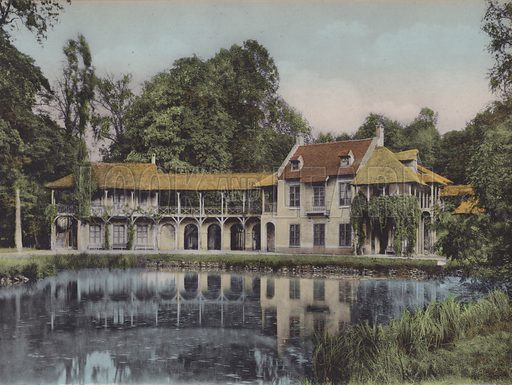Le Hameau, Maison de la Reine, The Hamlet, The Queen's House. Illustration for booklet on Versailles et les Trianons, c 1900.