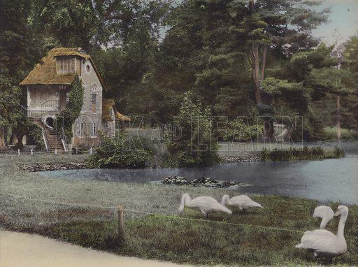 Hameau, Le Moulin, Hamlet, The Mill. Illustration for booklet on Versailles et les Trianons, c 1900.