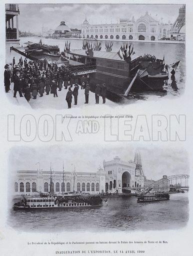Inauguration De L'Exposition, Le 14 Avril 1900. Illustration for Le Panorama, Exposition Universelle, Paris, 1900 (Librairie d'Art).