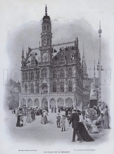 Le Palais De La Belgique. Illustration for Le Panorama, Exposition Universelle, Paris, 1900 (Librairie d'Art).