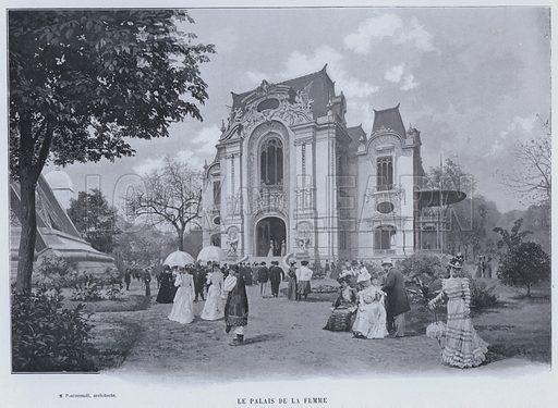 Le Palais De La Femme. Illustration for Le Panorama, Exposition Universelle, Paris, 1900 (Librairie d'Art).