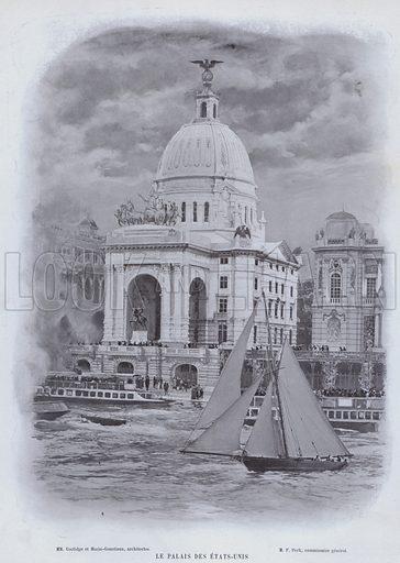 Le Palais Des Etats-Unis. Illustration for Le Panorama, Exposition Universelle, Paris, 1900 (Librairie d'Art).