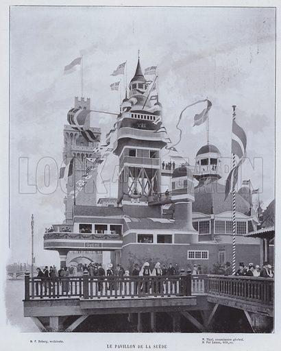Le Pavillon De La Suede. Illustration for Le Panorama, Exposition Universelle, Paris, 1900 (Librairie d'Art).