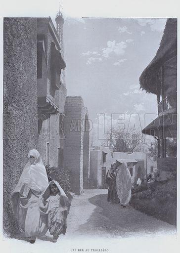 Une Rue Au Trocadero. Illustration for Le Panorama, Exposition Universelle, Paris, 1900 (Librairie d'Art).