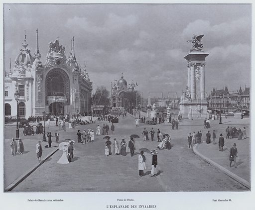 L'Esplanade Des Invalides. Illustration for Le Panorama, Exposition Universelle, Paris, 1900 (Librairie d'Art).
