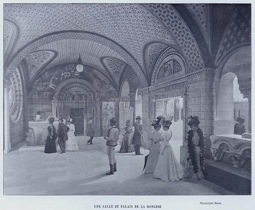 Une Salle Du Palais De La Hongrie. Illustration for Le Panorama, Exposition Universelle, Paris, 1900 (Librairie d'Art).