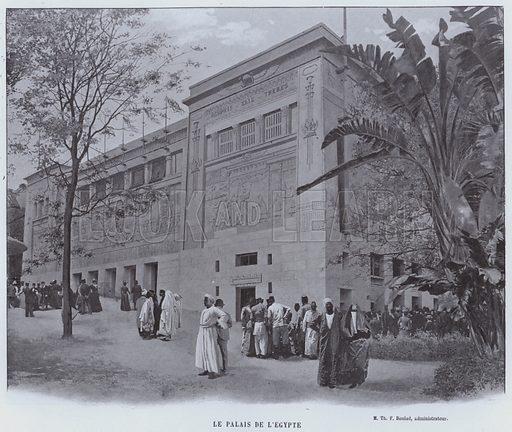 Le Palais De L'Egypte. Illustration for Le Panorama, Exposition Universelle, Paris, 1900 (Librairie d'Art).