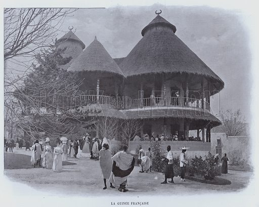 La Guinee Francaise. Illustration for Le Panorama, Exposition Universelle, Paris, 1900 (Librairie d'Art).