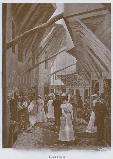 La Rue D'Alger. Illustration for Le Panorama, Exposition Universelle, Paris, 1900 (Librairie d'Art).