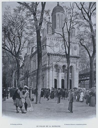 Le Palais De La Roumanie. Illustration for Le Panorama, Exposition Universelle, Paris, 1900 (Librairie d'Art).