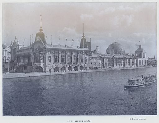 Le Palais Des Forets. Illustration for Le Panorama, Exposition Universelle, Paris, 1900 (Librairie d'Art).