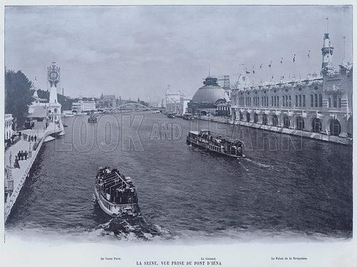 La Seine, Vue Prise Du Pont D'Iena. Illustration for Le Panorama, Exposition Universelle, Paris, 1900 (Librairie d'Art).