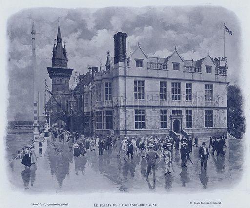 Le Palais De La Grande-Bretagne. Illustration for Le Panorama, Exposition Universelle, Paris, 1900 (Librairie d'Art).
