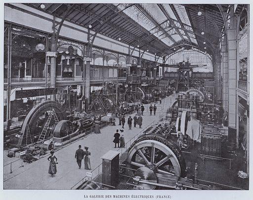 La Galerie Des Machines Electriques, France. Illustration for Le Panorama, Exposition Universelle, Paris, 1900 (Librairie d'Art).