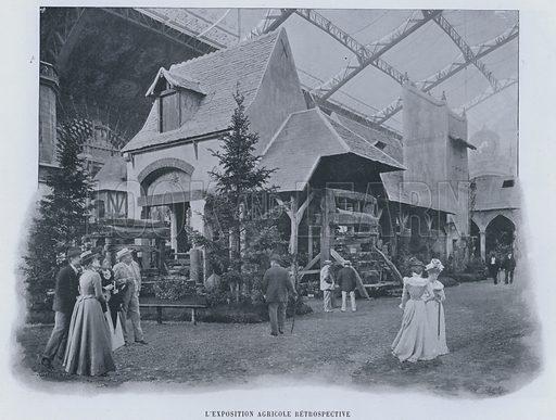 L'Exposition Agricole Retrospective. Illustration for Le Panorama, Exposition Universelle, Paris, 1900 (Librairie d'Art).