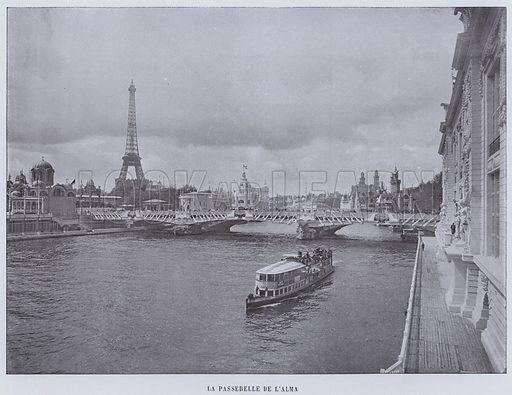 La Passerelle De L'Alma. Illustration for Le Panorama, Exposition Universelle, Paris, 1900 (Librairie d'Art).