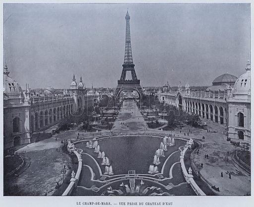 Le Champ-De-Mars, Vue Prise Du Chateau D'Eau. Illustration for Le Panorama, Exposition Universelle, Paris, 1900 (Librairie d'Art).