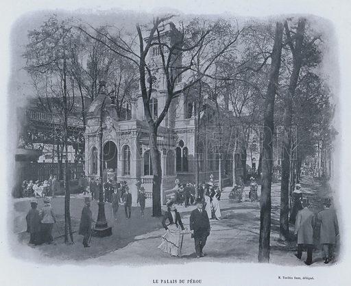 Le Palais Du Perou. Illustration for Le Panorama, Exposition Universelle, Paris, 1900 (Librairie d'Art).