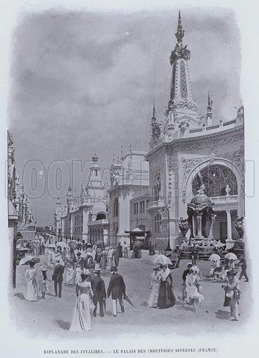 Esplanade Des Invalides, Le Palais Des Industries Diverses, France. Illustration for Le Panorama, Exposition Universelle, Paris, 1900 (Librairie d'Art).