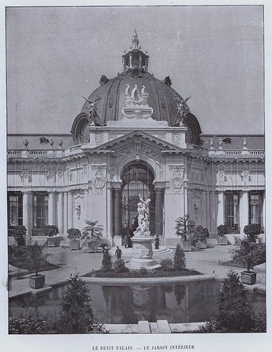 Le Petit Palais, Le Jardin Interieur. Illustration for Le Panorama, Exposition Universelle, Paris, 1900 (Librairie d'Art).