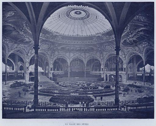 La Salle Des Fetes. Illustration for Le Panorama, Exposition Universelle, Paris, 1900 (Librairie d'Art).