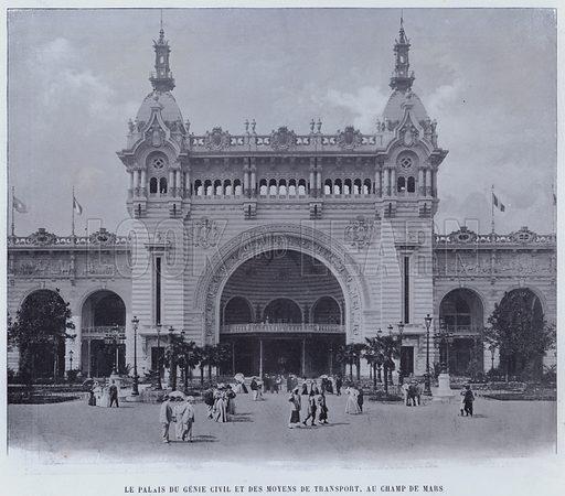 Le Palais Du Genie Civil Et Des Moyens De Transport, Au Champ De Mars. Illustration for Le Panorama, Exposition Universelle, Paris, 1900 (Librairie d'Art).