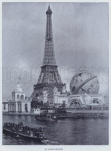 Le Globe Celeste. Illustration for Le Panorama, Exposition Universelle, Paris, 1900 (Librairie d'Art).