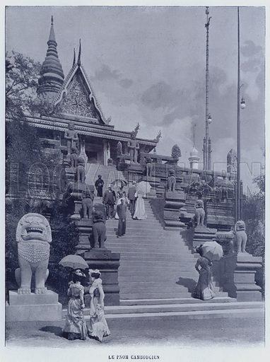 Le Pnom Cambodgien. Illustration for Le Panorama, Exposition Universelle, Paris, 1900 (Librairie d'Art).