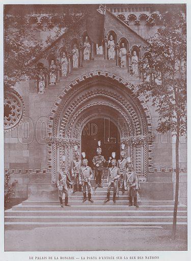 Le Palais De La Hongrie, La Porte D'Entree Sur La Rue Des Nations. Illustration for Le Panorama, Exposition Universelle, Paris, 1900 (Librairie d'Art).