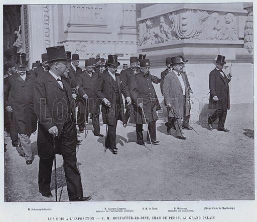 Les Rois AL'Exposition, SM Mouzaffer-Ed-Dine, Chah De Perse, Au Grand Palais. Illustration for Le Panorama, Exposition Universelle, Paris, 1900 (Librairie d'Art).