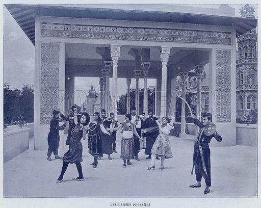 Les Danses Persanes. Illustration for Le Panorama, Exposition Universelle, Paris, 1900 (Librairie d'Art).