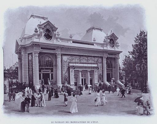 Le Pavillon Des Manufactures De L'Etat. Illustration for Le Panorama, Exposition Universelle, Paris, 1900 (Librairie d'Art).