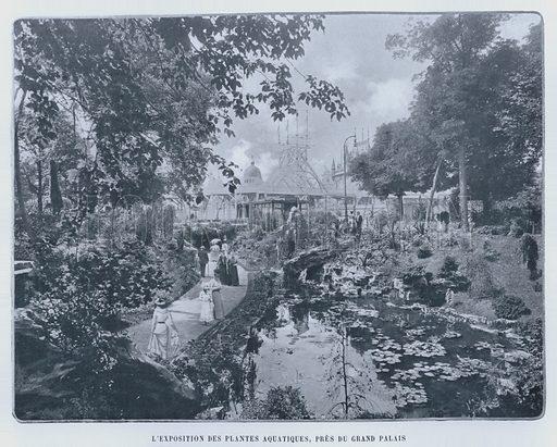 L'Exposition Des Plantes Aquatiques, Pres Du Grand Palais. Illustration for Le Panorama, Exposition Universelle, Paris, 1900 (Librairie d'Art).