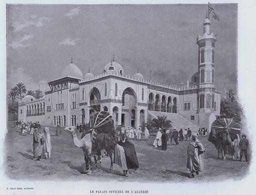 Le Palais Officiel De L'Algerie. Illustration for Le Panorama, Exposition Universelle, Paris, 1900 (Librairie d'Art).