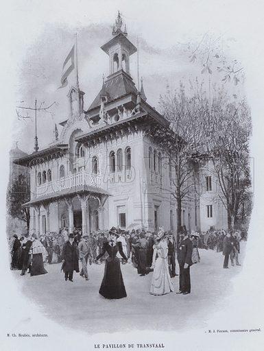Le Pavillon Du Transvaal. Illustration for Le Panorama, Exposition Universelle, Paris, 1900 (Librairie d'Art).