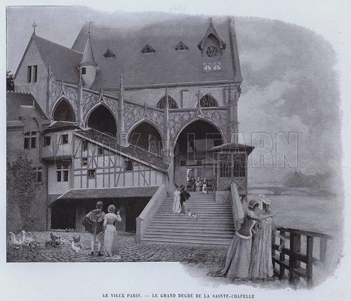 Le Vieux Paris, Le Grand Degre De La Sainte-Chapelle. Illustration for Le Panorama, Exposition Universelle, Paris, 1900 (Librairie d'Art).