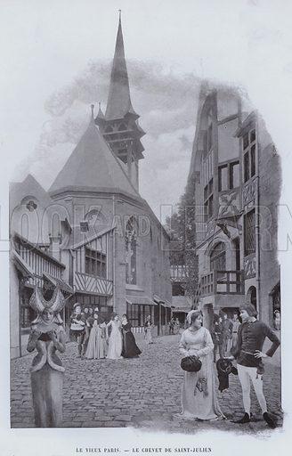 Le Vieux Paris, Le Chevet De Saint-Julien. Illustration for Le Panorama, Exposition Universelle, Paris, 1900 (Librairie d'Art).